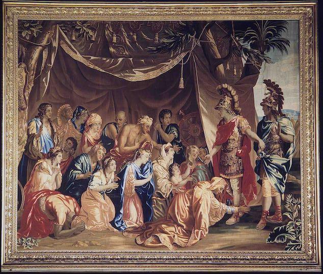 Arazzo: La famiglia di Dario di fronte ad Alessandro Magno