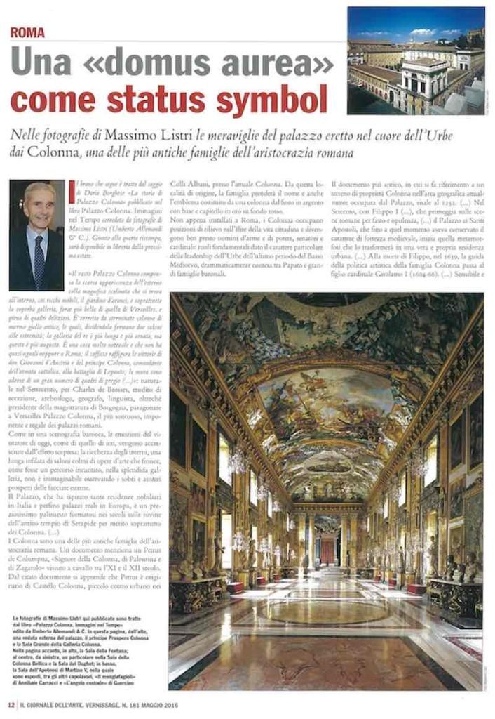 Il Giornale dell'Arte, maggio 2016, pag 1